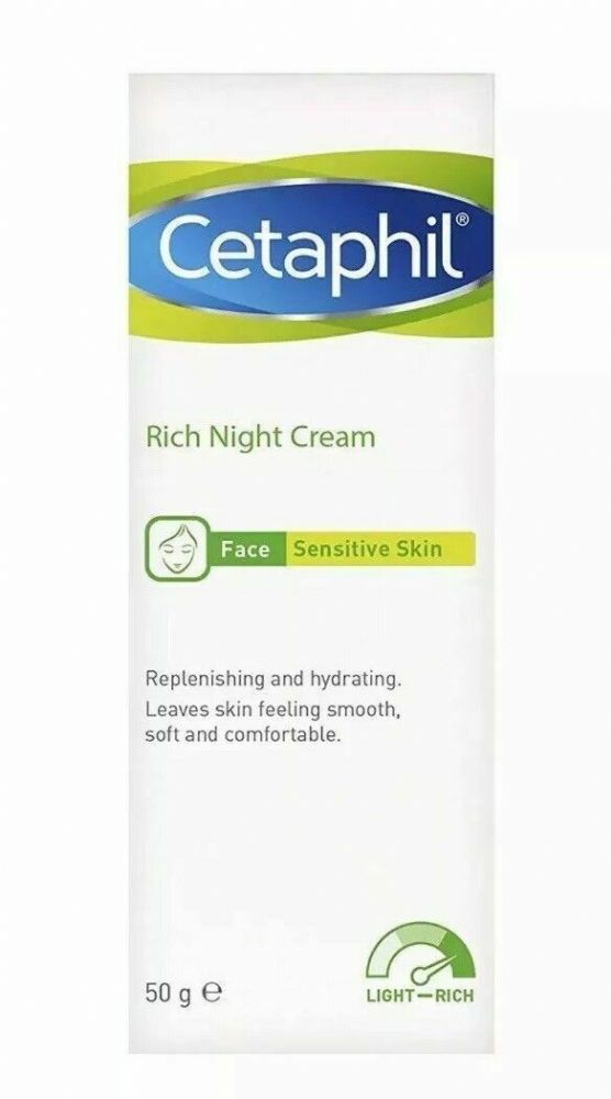 Cetaphil Rich Night Face Cream for Sensitive Skin 50g